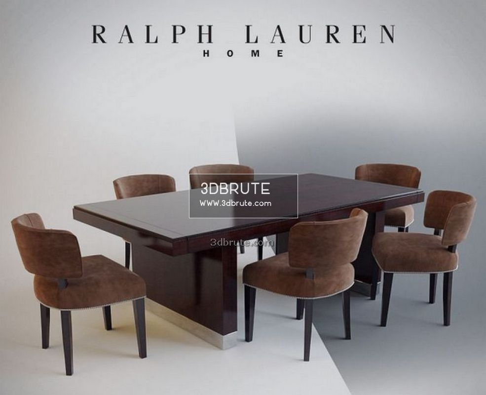 Astounding Ralph Lauren Dinner Table Chair 3Dbrute 3Dmodel Ibusinesslaw Wood Chair Design Ideas Ibusinesslaworg