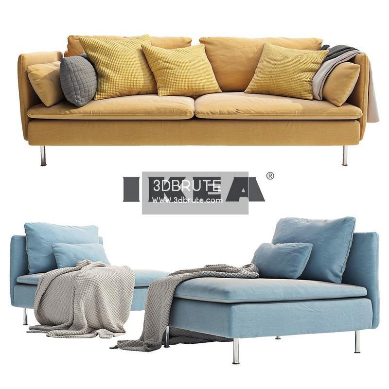 Sofa Features Smax Vray Textures Model Size 40 Mb